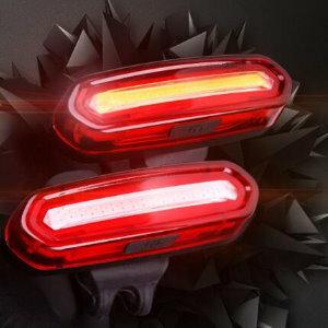 美麗大街【ML1060824241】雙色紅藍光自行車尾燈USB充電警示燈山地車騎行尾燈單車配件