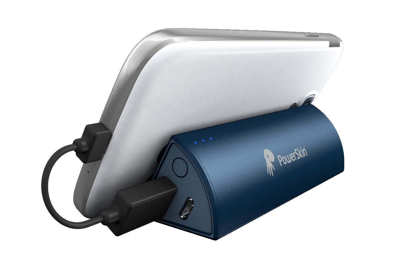 Powerstand-立架吸盤式行動電源-藍式比薩-支援Android, iOS, Windows各家手機品牌