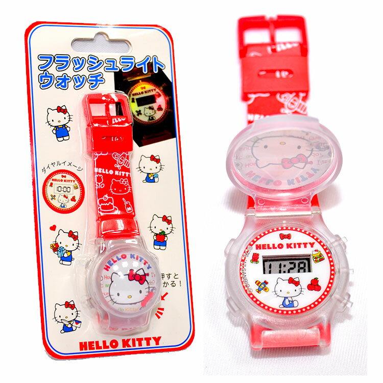 Hello Kitty 閃亮 兒童電子手錶 日本帶回正版