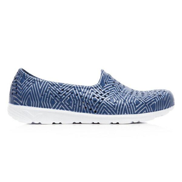 《2019新款》Shoestw【92U1SA06DB】PONY TROPIC 水鞋 軟Q 防水 懶人鞋 洞洞鞋 深藍色銀線 男女尺寸都有 1