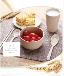 【媽媽咪呀】北歐天然小麥兒童專用環保無毒餐具組(碗、碟子、杯、筷子、叉子、湯匙)