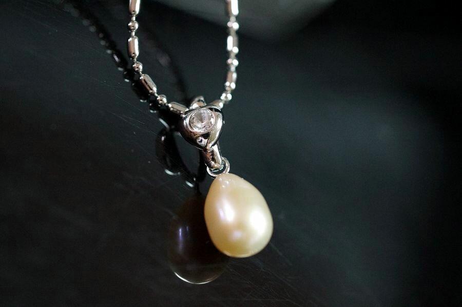 珍珠純銀墜飾 典雅 簡單 高雅 大方 ~S297