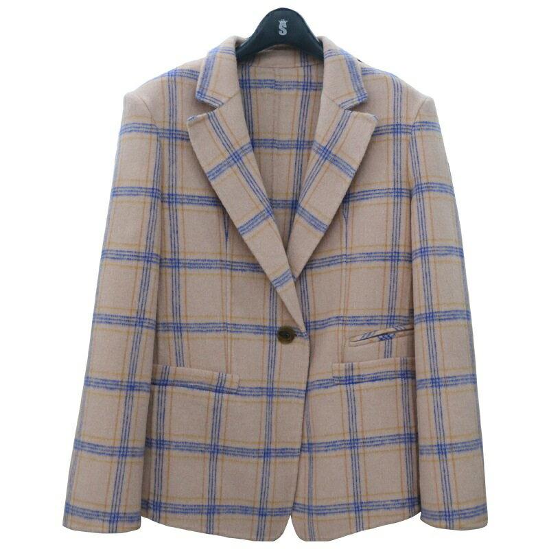 毛呢大衣羊毛外套-單粒扣修身翻領短版女外套3色73wb32【獨家進口】【米蘭精品】 1