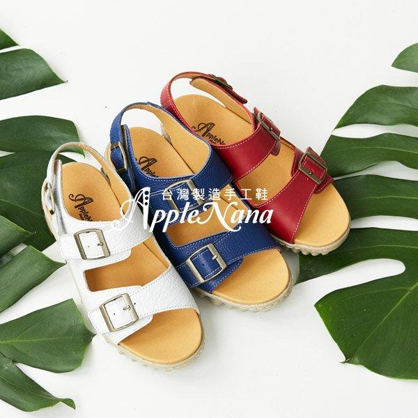 AppleNana蘋果奈奈【QTY251380】全面可調不分年齡輕量化真皮氣墊涼鞋 0