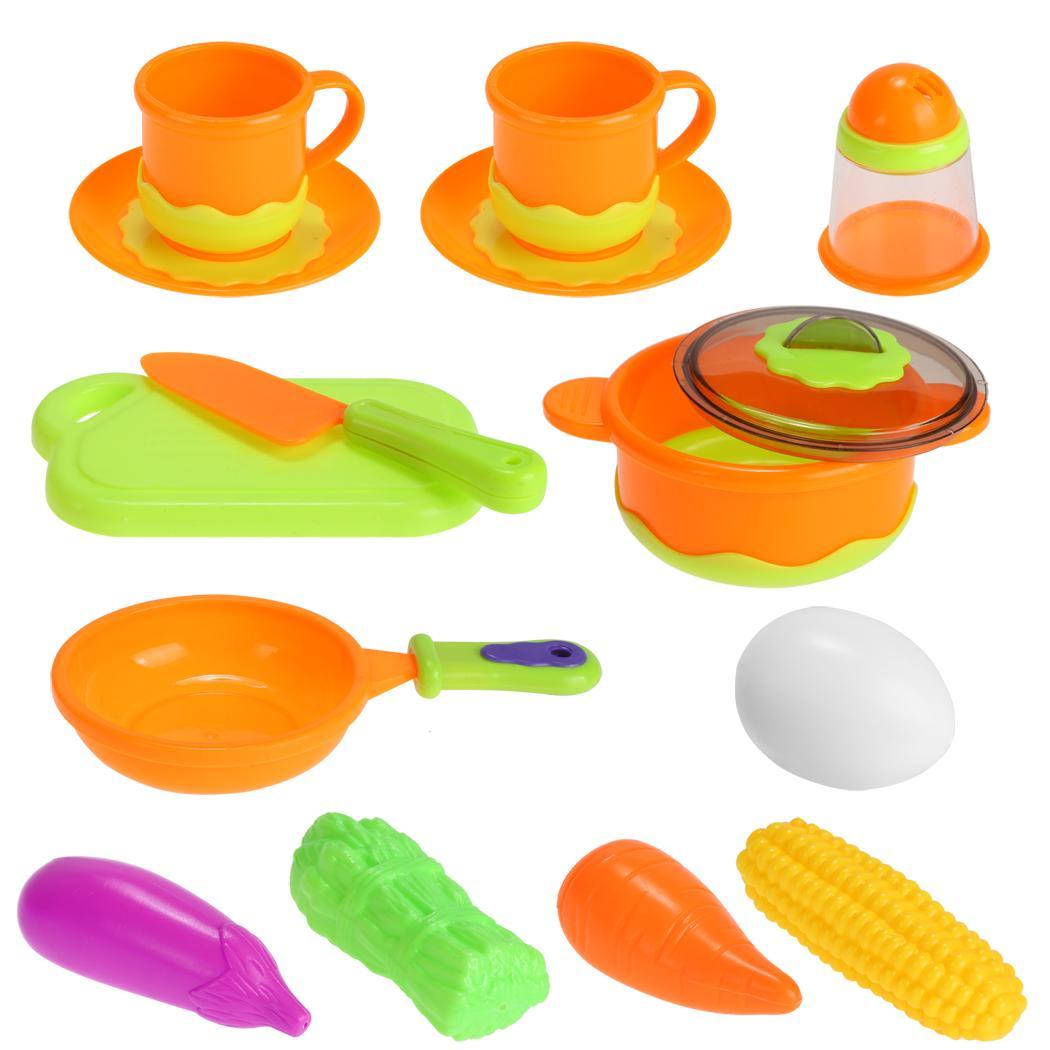 13pcs Children Kids Plastic Educational Toys Kitchen Toys Above 3 Years Old 0