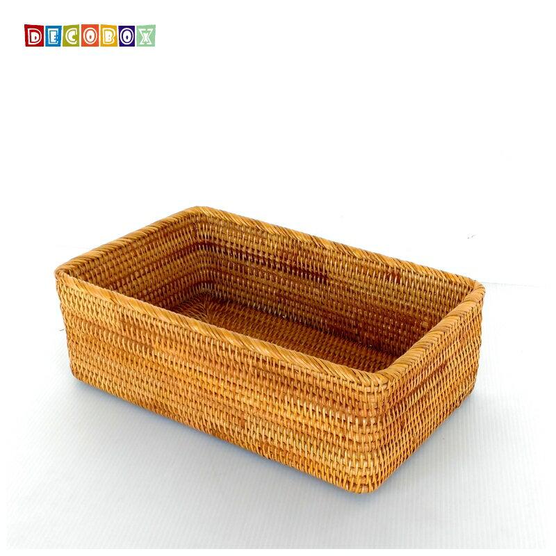 DecoBox藤編長方茶具大收納籃(茶道,藤編包) 1
