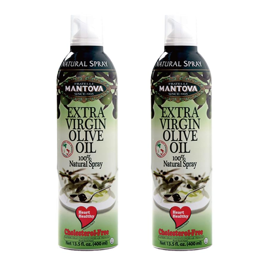 【Mantova】噴霧式冷壓初榨橄欖油400ml 雙入組合 ❤愛玩客強力推薦❤ 冷便當料理部落客 宜手作強力推薦❤