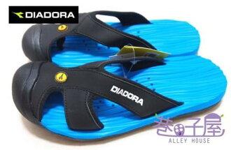 【巷子屋】義大利國寶鞋-DIADORA迪亞多納 男款護趾排水運動拖鞋 [9010] 藍黑 超值價$298