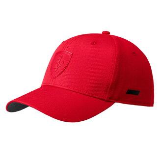 PUMA Ferrari Ls Baseball 棒球帽 鴨舌帽 可調整 紅【運動世界】02127802【1月會員神券★消費滿1000結帳輸入序號New2018-100↘折100 | 消費滿1288結..
