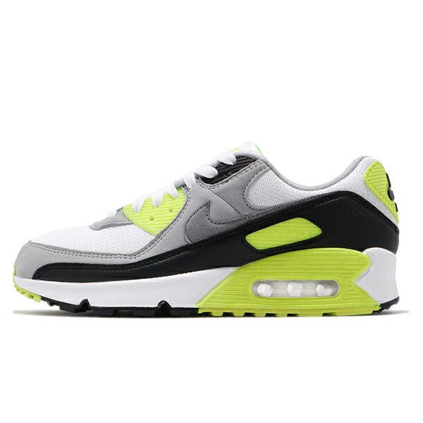 NIKE【CD0881-103】AIR MAX 90 休閒鞋 氣墊 白螢光綠灰 男生尺寸