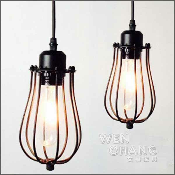 新古典風復古鐵藝柚子吊燈餐廳燈樓梯燈造型燈LC-002《特價》*文昌家具*