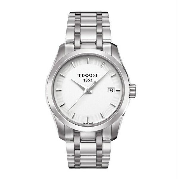 TISSOT天梭T0352101101100 建構師經典日曆腕錶/白面32mm