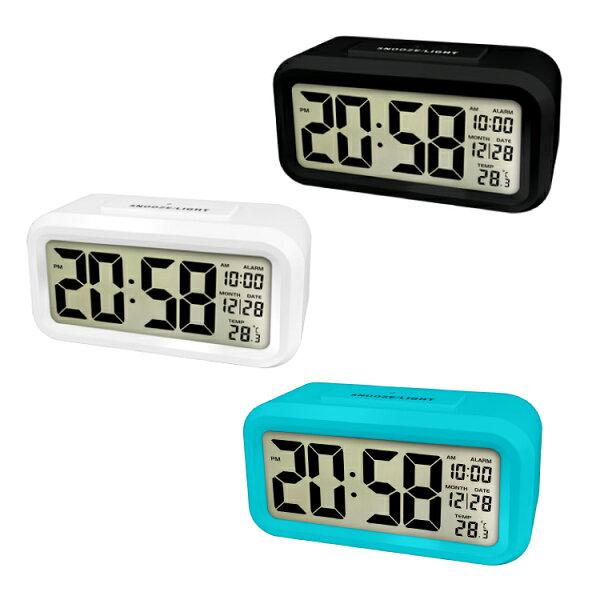 TD-331簡約光控聰明鐘時鐘鬧鐘掛鐘壁鐘LCD電子鐘【迪特軍】