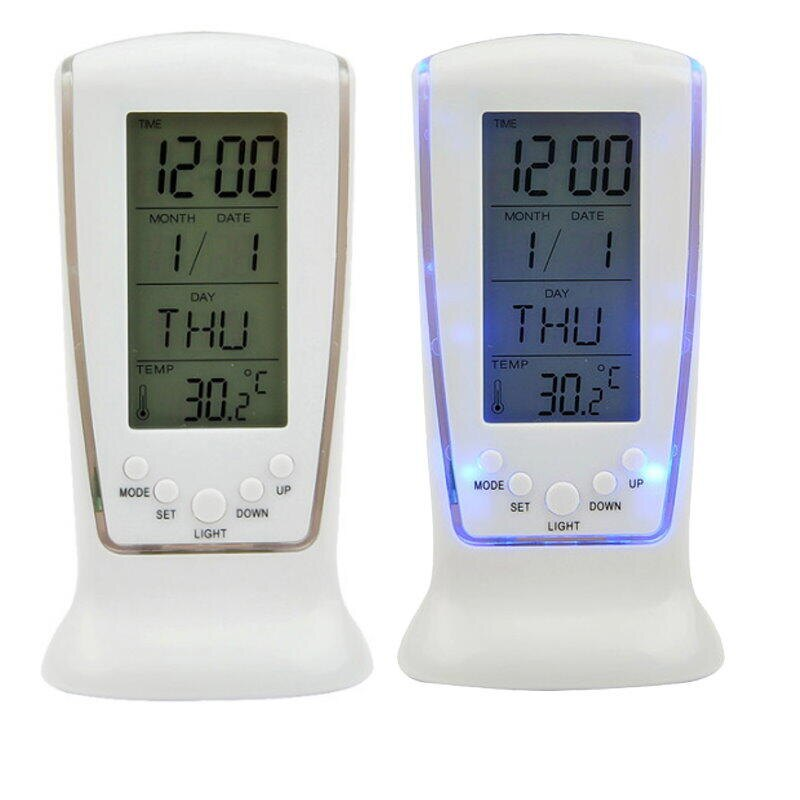 LED鬧鐘510 藍光萬年曆電子鐘 大數字時鐘 倒數計時器 溫度計【DB429】  123便利屋