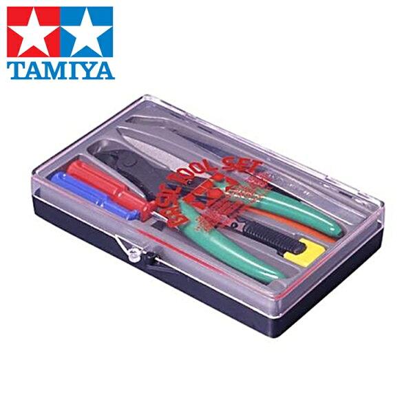 又敗家@日本TAMIYA田宮ITEM入門模型工具組74016*198模型組合工具公仔模型專用工具入門工具剪鉗一字十字鑷子