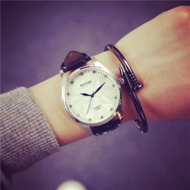 50%OFF【H019064WAH】韓國女學生韓版時尚潮流行復古極簡約男表女表真皮帶情侶手錶