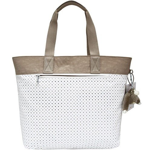 OUTLET代購【KIPLING】網洞雙色尼龍肩揹包 旅行袋 斜揹包 媽媽包 1