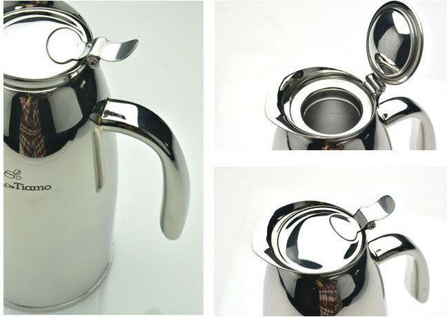 附發票Tiamo 3015雙層不鏽鋼 保溫咖啡壺 1.0L HA1553 不鏽鋼保溫壺 桌上型保溫壺 咖啡保溫壺