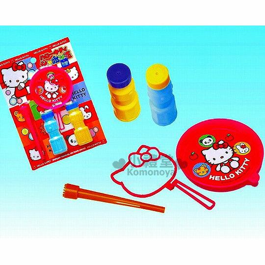 〔小禮堂嬰幼館〕Hello Kitty 日製吹泡泡玩具組《造型.2入.三歲以上》增加親子互動