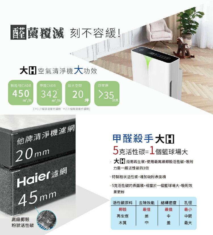 【Haier 海爾】醛效抗敏大H空氣清淨機 AP450 抗PM2.5  /  除甲醛(加碼送專屬濾網) 2