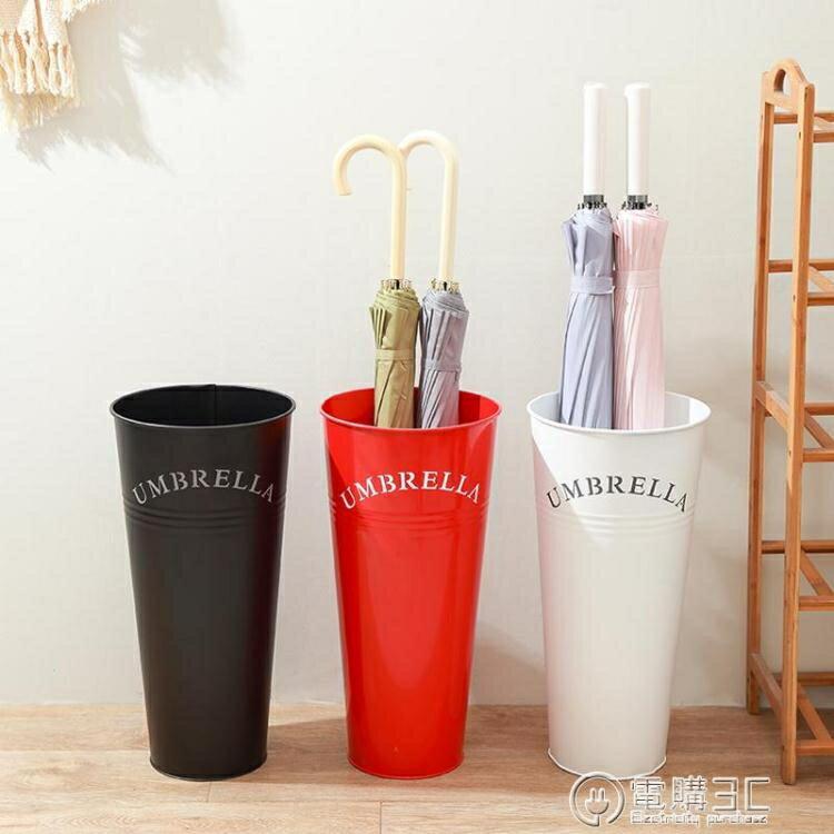 雨傘桶家用 歐式現代時尚簡約家居鐵藝辦公雨傘架 創意雨傘收納桶 七色堇   元旦 交換禮物