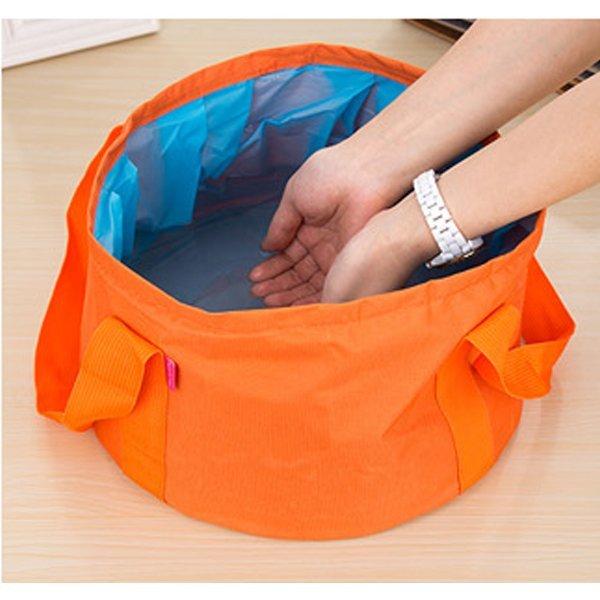 BO雜貨【SV9536】可折疊15公升水桶 便攜式水盆 洗腳盆 釣魚 水桶 泡腳盆 戶外用品