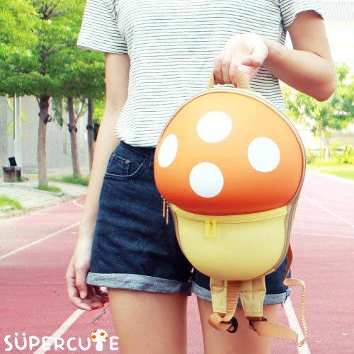 Supercute 蘑菇雙肩背包^(四色^)~蘋果日報 ~  好康折扣