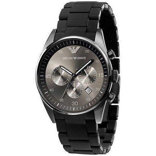國外代購 ARMANI AR5889 不鏽鋼錶殼黑錶面石英錶 腕錶 手錶 男錶