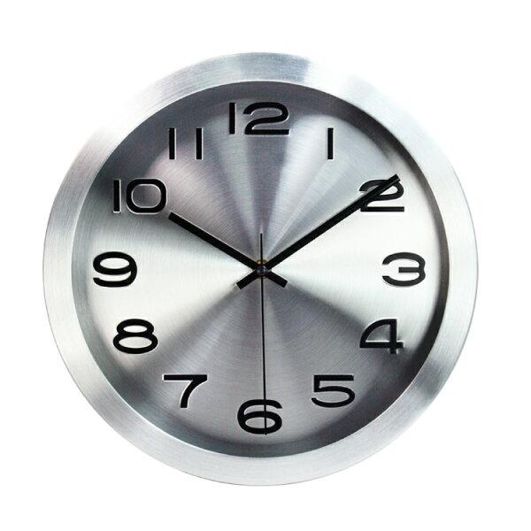CL-161現代風金屬掛鐘時鐘鬧鐘掛鐘壁鐘LCD電子鐘【迪特軍】