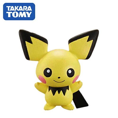 【日本進口】皮丘 Pichu 寶可夢 造型公仔 MONCOLLE-EX 神奇寶貝 TAKARA TOMY - 968474