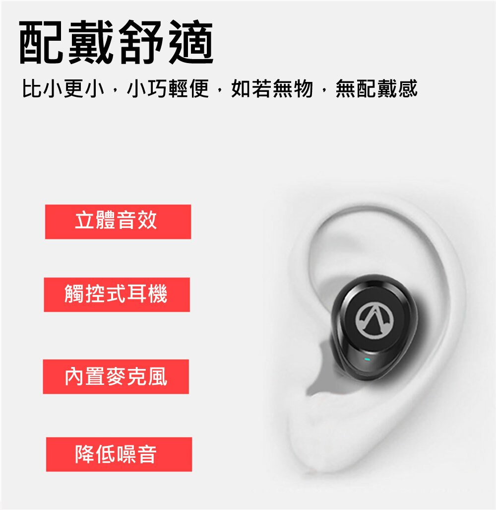 無線藍牙耳機 TWS-X20  新款迷你無線藍牙耳機 藍芽5.0 自帶充電倉 運動藍牙耳機 智能觸控 音質佳 CP值超高 3