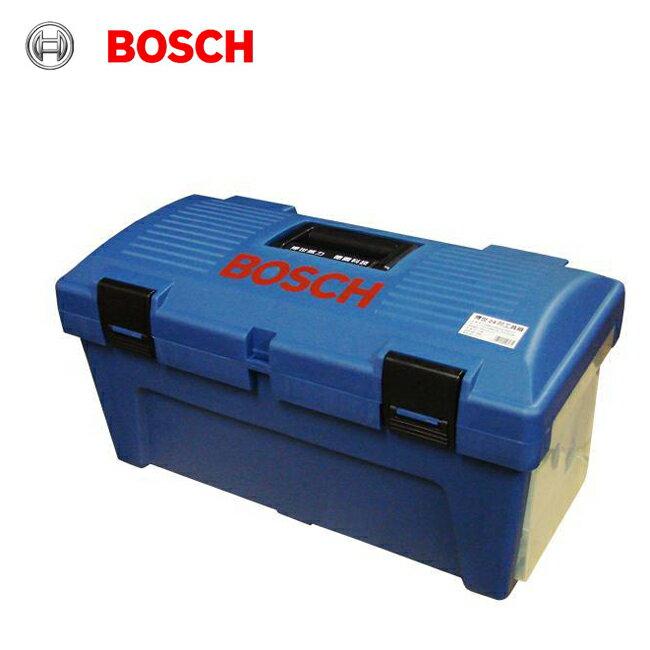 補貨中 請勿下標 德國BOSCH 博世 24 24吋強化塑鋼雙層工具箱 限量經典藍色 附實用雙邊螺絲零件收納盒