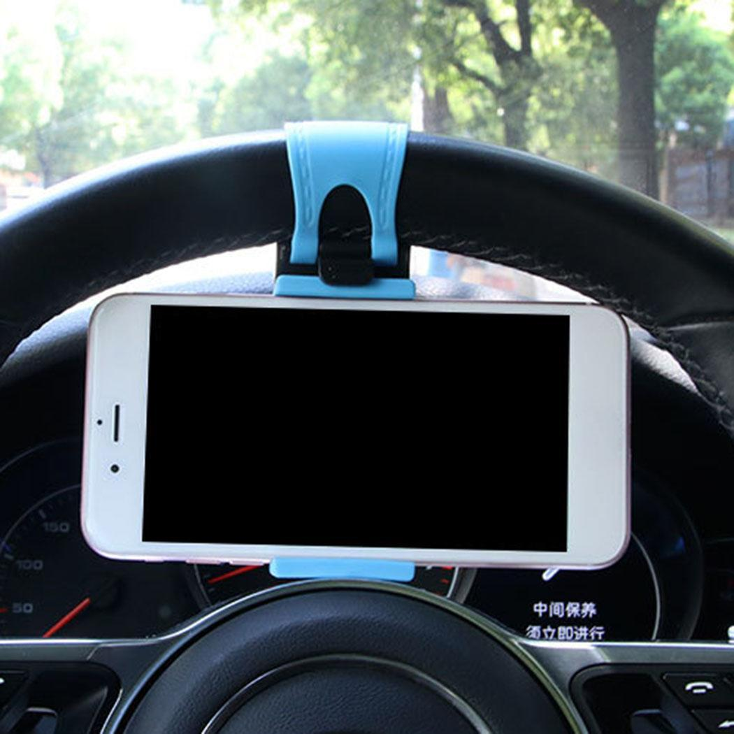 Car Steering Wheel Phone GPS Stand Clip Rubber 1