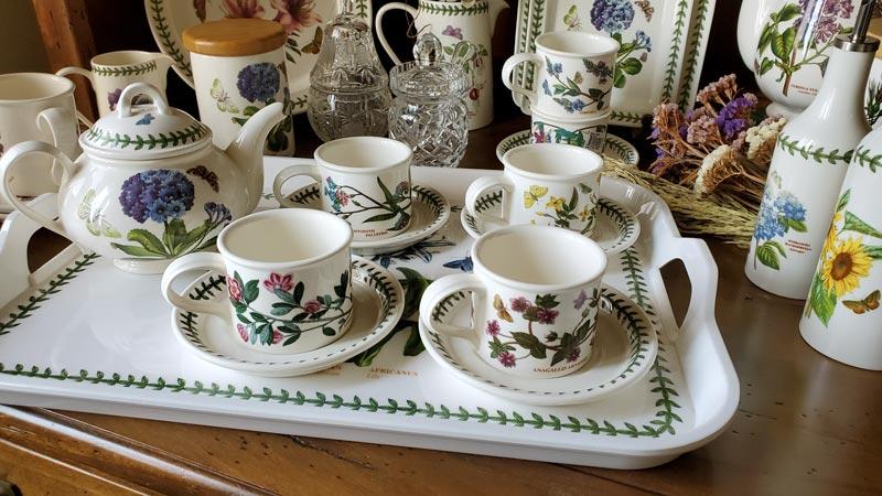 【閨蜜下午茶組】英Botanic Garden經典植物園系列-四杯(直筒杯)一壺組加贈托盤