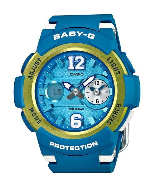 CASIO BABY~G BGA~210~2B街頭 雙顯 腕錶  藍色46mm