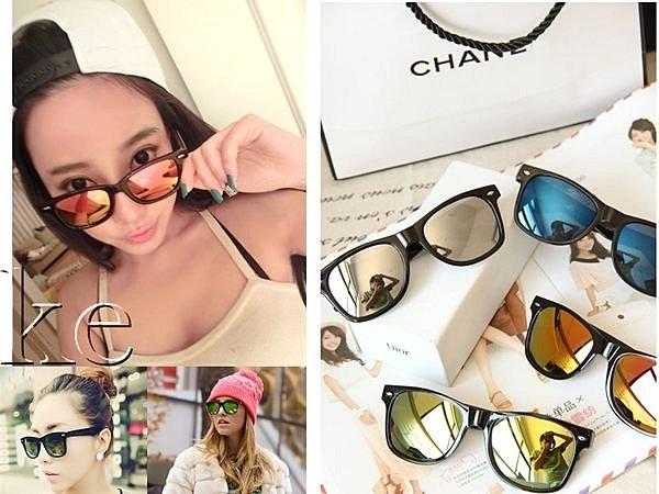 豹紋 復古 美韓明星款 黑膠框 修飾臉型太陽眼鏡 水銀反光墨鏡 情侶款 玩水沙灘 比基尼 防晒 黑框眼鏡 凱益