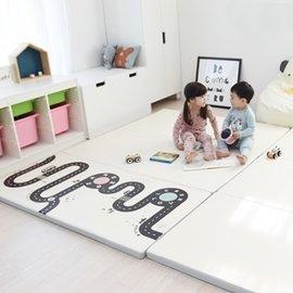 【淘氣寶寶】韓國 DreamB 折疊式防撞遊戲地墊-道路 200 x 140 x 4 (cm)