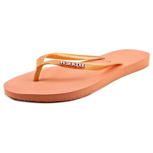 Havaianas Slim Logo Womens Synthetic Flip Flops 0