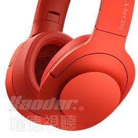 ~曜德~野遊享好禮~SONY MDR~100ABN 紅色 頭戴式抗噪耳麥 無線藍芽NFC