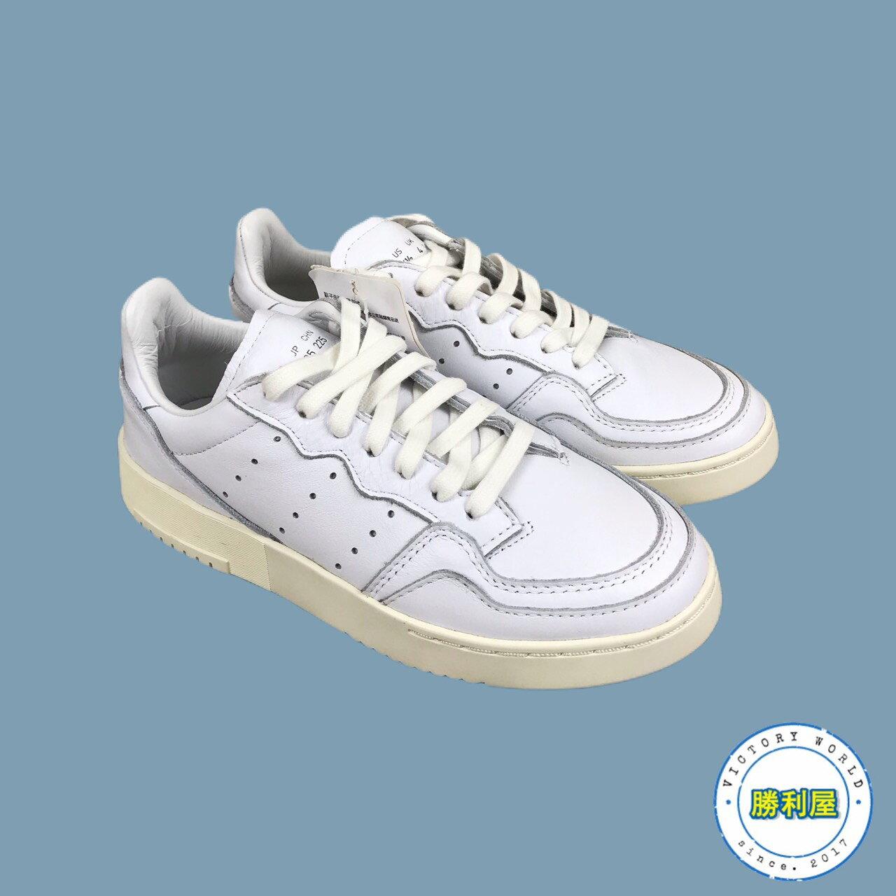 【領券最高折$350】【ADIDAS】SUPERCOURT 男鞋 女鞋 休閒鞋 全白 皮革 復古 熱門款 EE6325【勝利屋】
