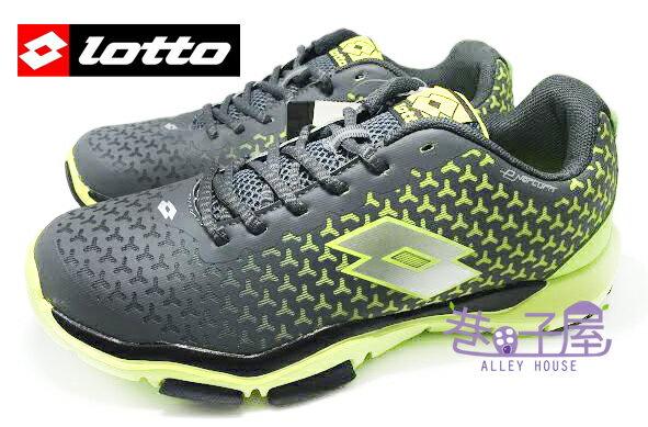 【巷子屋】義大利第一品牌-LOTTO樂得 男款五大機能無車縫膠印輕量訓練運動跑鞋 [2768] 灰螢光黃 超值價$790