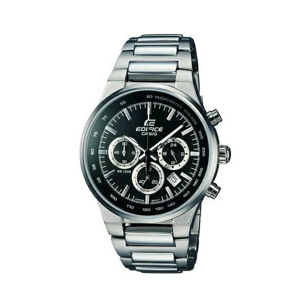 CASIO EDIFICE EF-500BP-1A三眼運動計時腕錶/黑面40mm