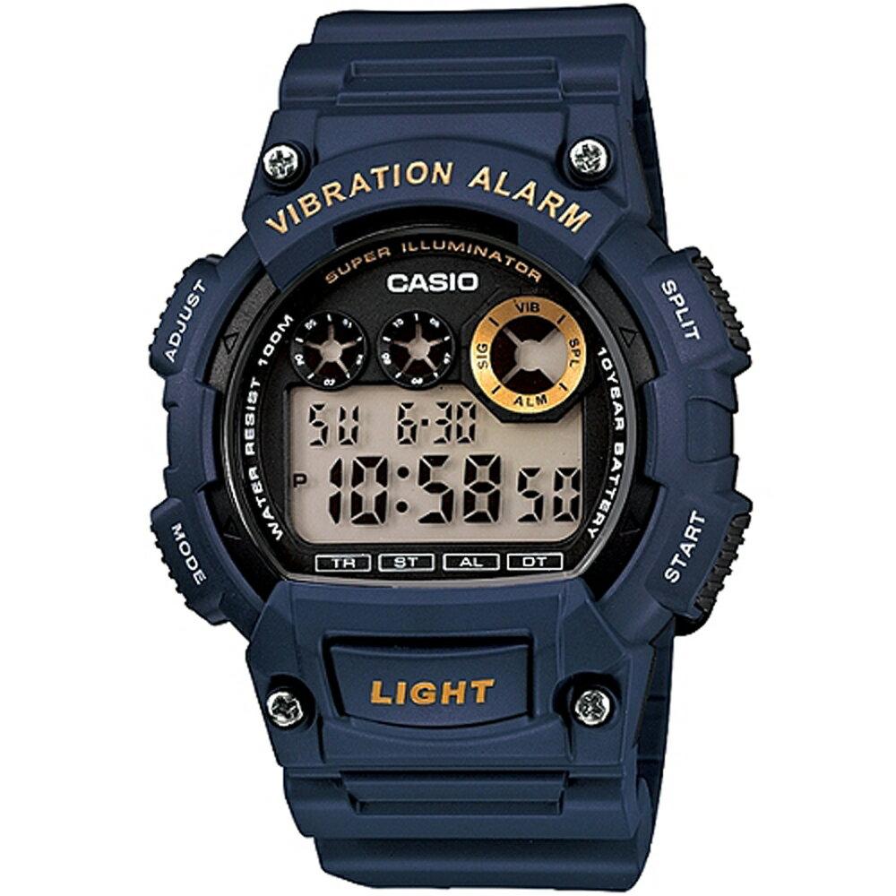 CASIO 卡西歐 W-735H 沉穩色系震動鬧鈴功能防水電子錶 1