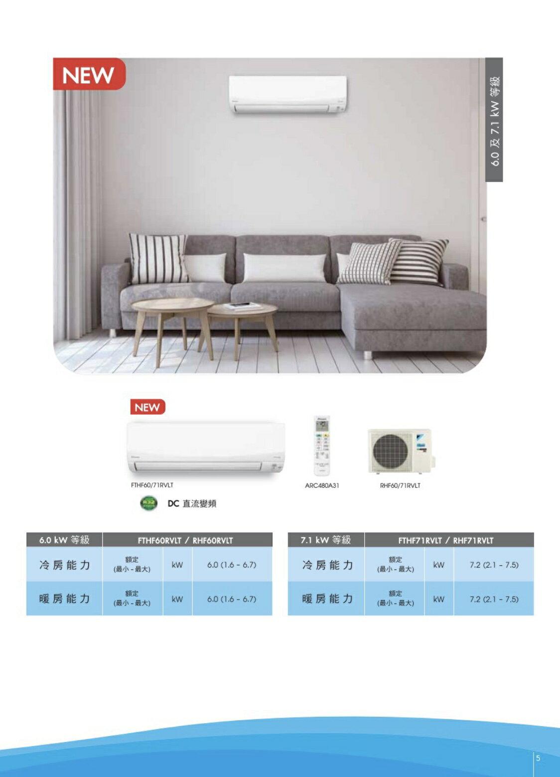 大金冷暖變頻分離式FTHF20RVLT 省電 PM2.5除塵 高品質 靜音 4