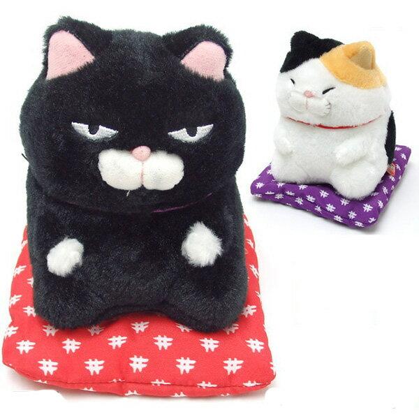 【貓咪 坐姿娃娃】貓咪 坐姿娃娃 招財貓 日本正版 該該貝比日本精品