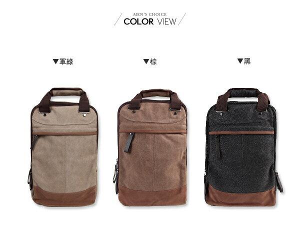 ☆BOY-2☆【NQA5028】兩用雙肩包   帆布多功能手提後背包 1