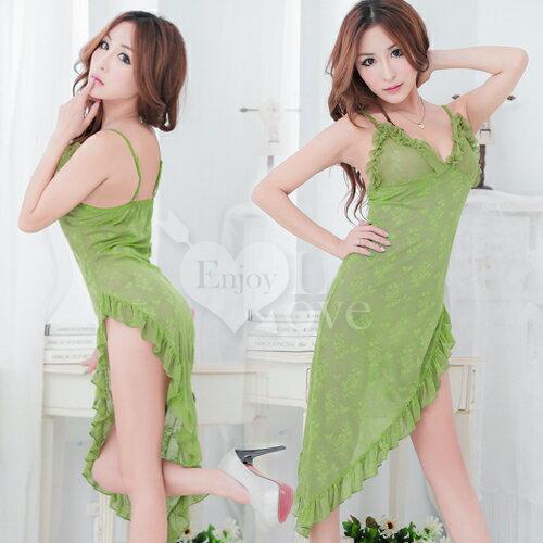 性感睡衣 情趣睡衣~~Enjoy Love~風情萬種!側高開叉 裙擺睡衣