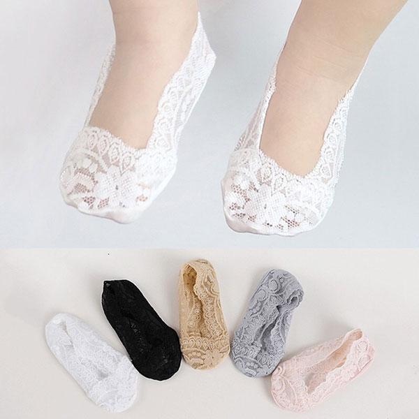 ins 韓國 蕾絲 矽膠 防滑 隱形襪 短襪 帆船襪 襪子 止滑 黑灰白膚粉 童 襪 正韓 娃娃鞋 球鞋 公主 ANNA S.