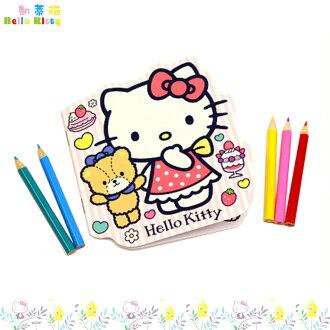 大田倉 日本進口正版 Hello Kitty 凱蒂貓著色本+色鉛筆 色鉛筆5入 畫畫本 畫筆 繪畫本 160300