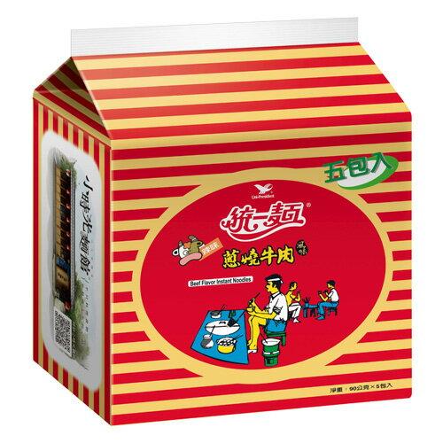 統一蔥燒牛肉麵*60入(箱)【愛買】